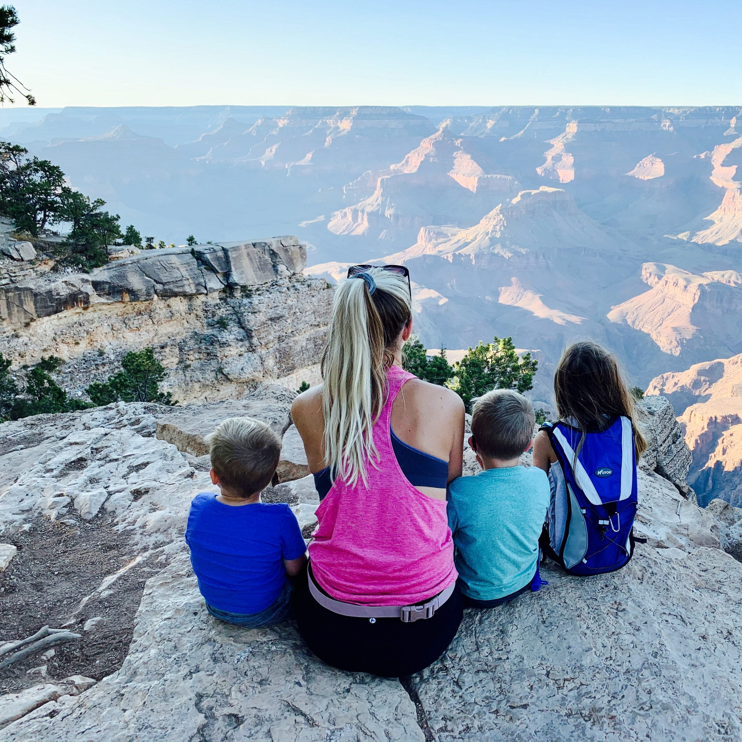 My family appreciating the Grand Canyon